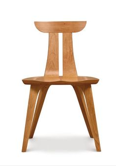 Gorgeous sustainably-sourced hardwood Estelle Dining Chair by Copeland.