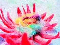 touch of rainbow ze sklepu galerytouchofrainbow na Etsy Full Energy, Boho Flowers, Wild Flowers, Flower Brooch, Floral Arrangements, Recycling, Felt, Rainbow, Etsy