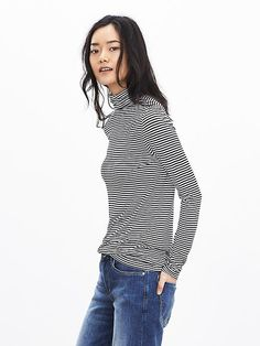 i have this... love the material  Micro-Stripe Modal Turtleneck