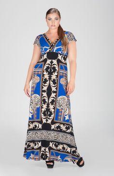 84e86ea2528 Eva Varro | Reversible Print High Waist Long Dress $240.00 | #evavarro #eva  #varro #handmade #fashion #madeinusa #womens #clothing #Dresses #plussize  #plus ...