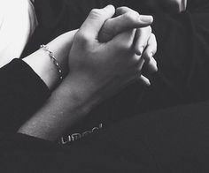 #Together  ❤ #holding #hands #couple #love #black #white