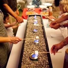 S'mores table for our reception! or at your home! what a great idea!