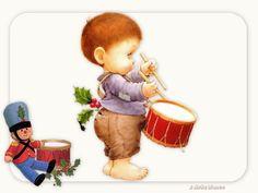 niño tamborilero, que lleva el tambor