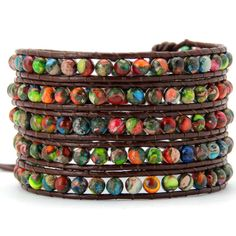 The Colorful Fusion Wrap Bracelet is made from beautifully colored marble beads. Add just the right amount of color to your...