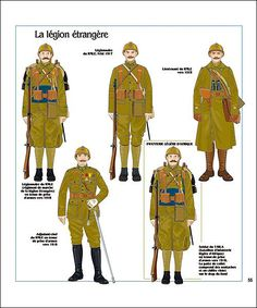 LATE WAR FRENCH INFANTRY (Légion Étrangère) in World War 1