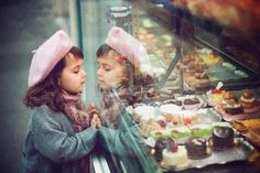 Treasures in the bakery window