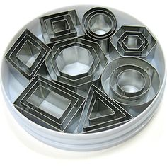 Mini Geometric Shapes Stainless Cookie Cutter Set