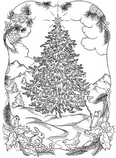Christmas Coloring Page: --> For the best adult coloring books and supplies including colored pencils, watercolors, gel pens and drawing markers, logon to http://ColoringToolkit.com. Color... Relax... Chill.