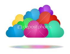 Set of color clouds