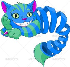 Disappearing Cheshire Cat - Animals Characters