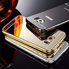 Luxury Aluminum Ultra-thin Mirror Metal Case Cover for Samsung Galaxy S5 S6 S6edge S6edge Plus S7 S7edge