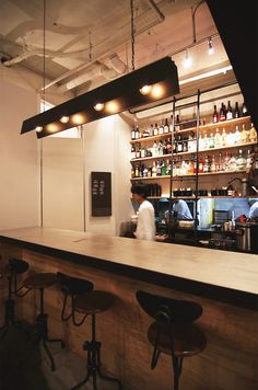 【EIGHT DESIGN】名古屋市中区のカフェ「sora cafe 02」の店舗デザイン。 Cafe Restaurant, Workplace, Liquor Cabinet, Table, House, Furniture, Design, Home Decor, Decoration Home