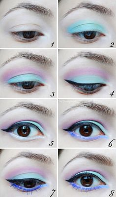 Pastel goth makeup tutorial  See more gothic make up's at  http://lovegothic.com/category/makeup/