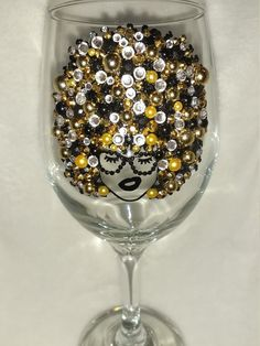 Fancy Wine Glasses, Big Hair Dont Care, African American Girl, Drinking Glass, My Glass, Mild Soap, 6 Years, Bling, Glitter