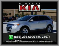 2011 Ford Edge Limited SUV   Dual Front Air Conditioning Zones, Cruise Control, Leather/Chrome Shift Knob Trim, Front Shoulder Room: 58.9, Coil Rear Spring, Fuel Consumption: