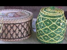 """Tejemos una cesta de tubitos de periodicos con el dibujo """"Red rombica"""" con Natalia Sorokina - YouTube"""