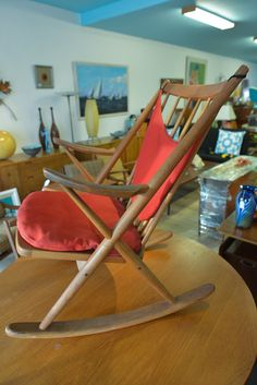 Holiday Sale! Mid Century Danish Rocking Chair By Frank Reenskaug For Bramin