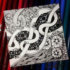 Zentangle 061116. Welcome to come to visit my FB Fan Page : http://www.facebook.com/Rebecca.Zentanglebox #zentangle #zendoodle #doodle #doodleart #draw #drawing #art #artwork #sketch #sketchbook #blackandwhite #zentangleinspiration #zentangleart...