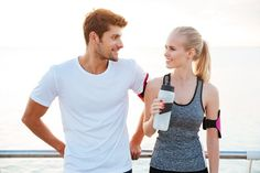 Beautiful young cheerful couple talking while resting after workout photo by vadymvdrobot on Envato Elements Crop Photo, Fit Couples, After Workout, Listening To Music, Mens Fitness, Beautiful Women, Beautiful Couple, Business Women, Black Men