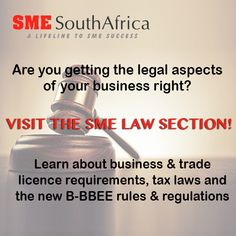 Visit our SME Law section and get acquainted with the laws to run your small business!