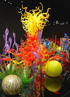 """Mille Fiori"" in Chihuly Garden and Glass in Seattle, Washington"