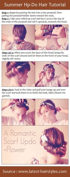 This would be super cute on locs!  (PinTutorials)