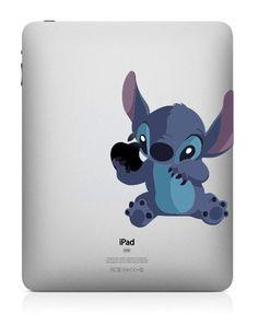 Cute Stitch ---  iPad Decal Mac Decal Macbook Decals Macbook Stickers Vinyl decal Apple sticker Macbook Pro/Air. $8.49, via Etsy.
