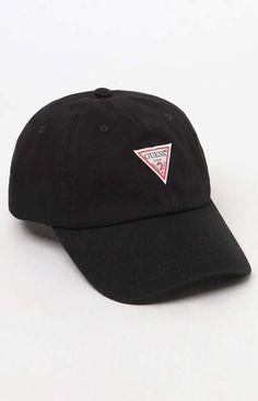GUESS Denim Triangle Strapback Dad Hat Gorras ba8aaf84dcb