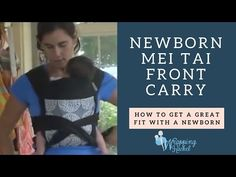 How to use a Mei Tai with a Newborn Baby - YouTube
