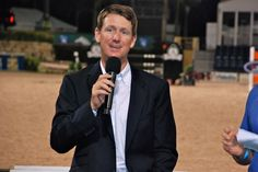 Mclain Ward speaks at the EQUUS Foundation's Fete Cheval charity event Friday at the Winter Equestrian Festival.