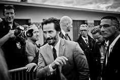 Keanu Reeves  looks like a Press Jumket  and Fairly recent too