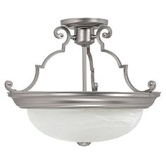 Capital Lighting 2717MN - 3 Light Semi-Flush, Matte Nickel