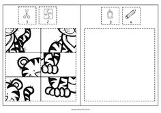 tiger cut and paste puzzle free