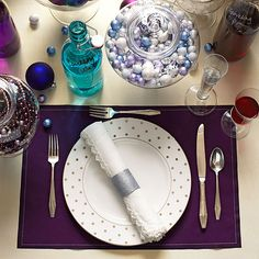 Cool Holiday Table Setting by @P.S.- I made this...