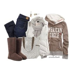 Brown, Gray and White #1 by sarahschuett on Polyvore and thirty one bag :)