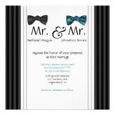 BoscoWeddings.com, Gay Wedding Invitations, Lesbian Wedding Invitations,  Same