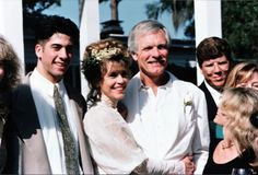 Jane Fonda and Ted Turner at their #wedding in 1991. They divorced in 2001. Her son (on the left) is Troy Garrity, an actor, from her 2nd husband Tom Hayden. They divorced in 1990.