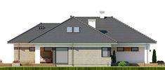 DOM.PL™ - Projekt domu FA Nela VI CE - DOM GC7-26 - gotowy koszt budowy House Blueprints, House Plans, Shed, Construction, Outdoor Structures, Outdoor Decor, Home Decor, Templates, Houses