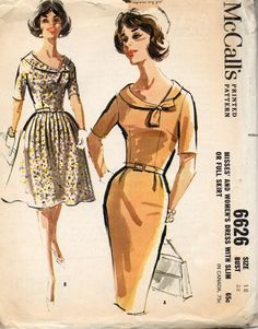 1962 McCall's sewing pattern 6626 Size 18 by LegendaryCrafts