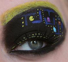 Pacman eye makeup