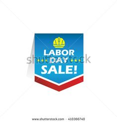 Labor/ labour/ worker's day tag/ label/ badge/ sticker. EPS 10 - stock vector