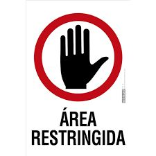 Image result for señales de area restringida