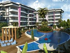 Apartamenty w Myra Park Residence w Alanya Kestel