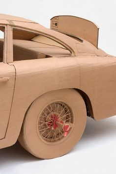 Cardboard Art by Chris Gilmour: The 'Goldfinger' Aston DB5