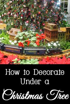 Most people are so concerned with decorating their Christmas tree that they forget to decorate underneath it.   You might eventually have gifts under your Christmas tree in a few weeks, but here are a few different ideas for how to decorate under your Christmas tree to give your tree a designer look.