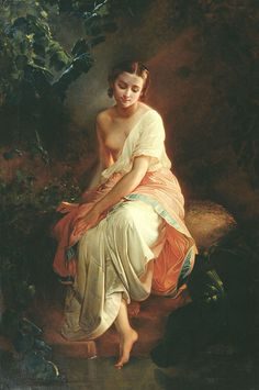 Carl Timoleon von Neff    The bather, 19th century, 1804-1877