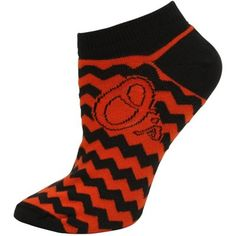 Baltimore Orioles Ladies Chevron Striped Socks
