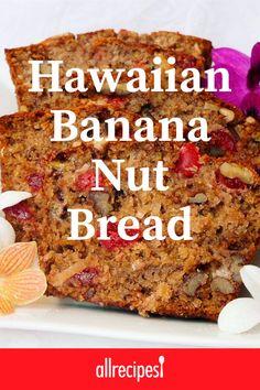 Hawaiian Banana Bread Recipe, Banana Nut Bread, Banana Bread Recipes, Bread Cake, Dessert Bread, Scones, Delicious Desserts, Dessert Recipes, Nut Bread Recipe