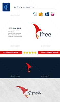 Flying Bird Logo Template