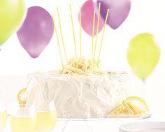 Lemon Chiffon Birthday Cake - I love, love, love lemon desserts, especially light cakes like this one Sweets Cake, Cupcake Cakes, Cupcakes, Cheesecake Frosting, Light Cakes, Lemon Desserts, Recipe Details, Frostings, Cheesecakes